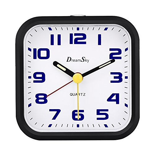 65341787aa6 ... the DreamSky is a lovely version of the traditional round analog alarm  clock. With easy-to-read black numerals on a white clock face