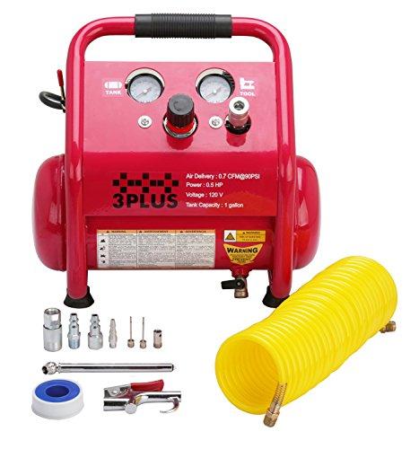 3PLUS 1-Gallon Quiet Air Compressor Kit