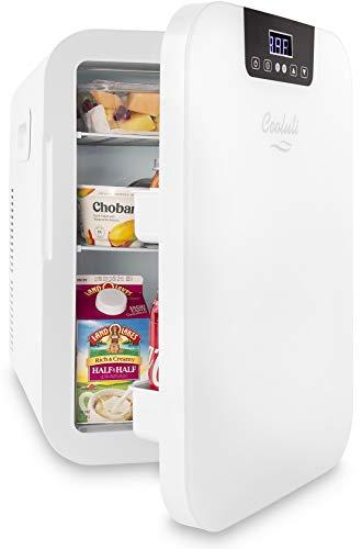 Cooluli Concord White Compact Cooler Mini-Fridge
