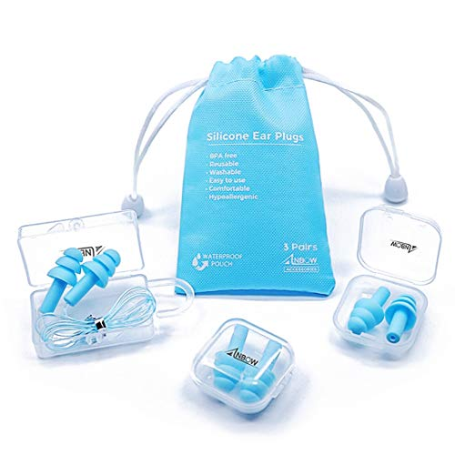 ANBOW Reusable Silicone Ear Plugs