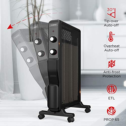 TURBRO Arcade HR1500 Electric Mica Space Heater