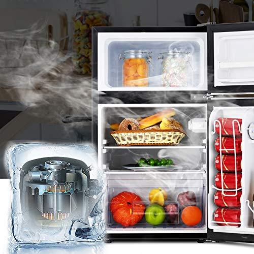 KUPPET Retro Mini Refrigerator