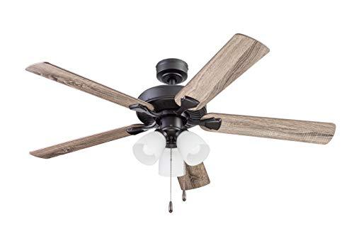 "1) Portage Bay Ceiling Stannor 52"" Bronze Indoor Fan"