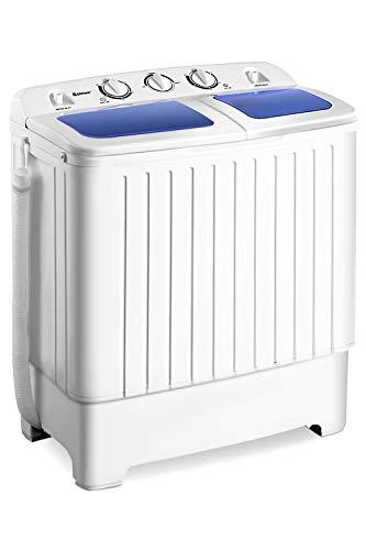 Giantex Portable Mini Compact Twin Tub Washing Machine 17.6lbs Washer Spinner Portable