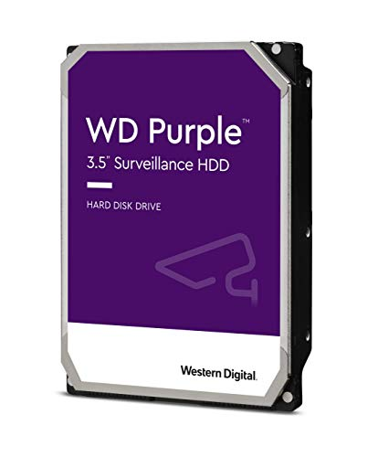 4) Western Digital 6TB Purple Surveillance Internal Hard Drive