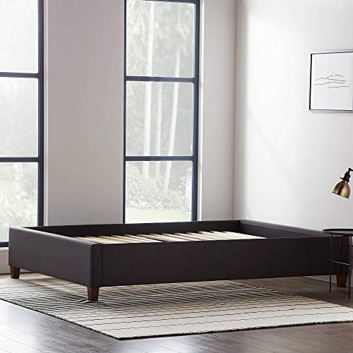 11) LUCID Upholstered Bed with Slats
