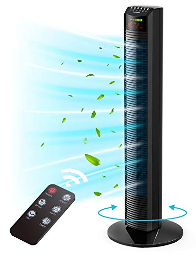 Homech Whole Room Wind Curve Auto Oscillating Tower Fan