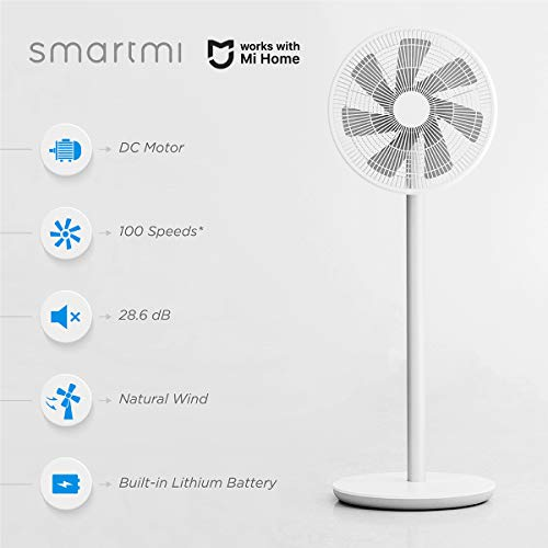 3) Smartmi Standing Oscillating Pedestal Fan