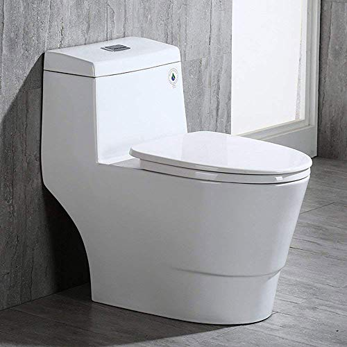 3) WOODBRIDGE T-0019 Dual Flush Cotton White Toilet
