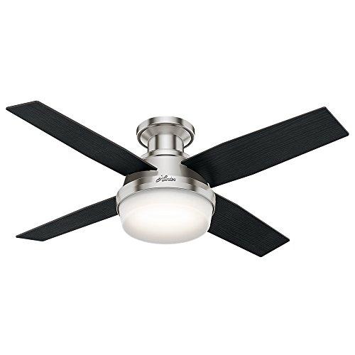 3) Hunter Fan Company Dempsey Indoor Low Profile Ceiling Fan