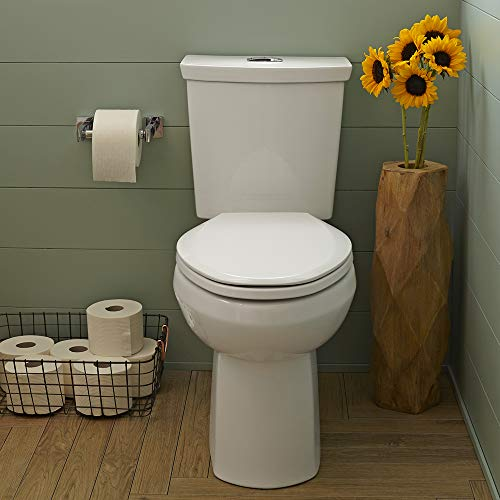 6) American Standard H2Option Dual Flush Right Height Elongated Toilet