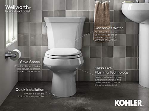 7) Kohler Wellworth Classic Round-Front Toilet