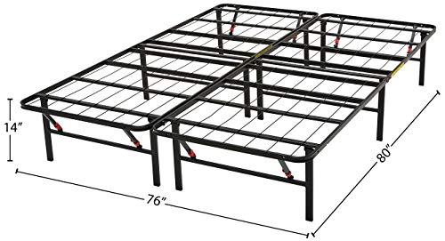 3) AmazonBasics Foldable Metal Platform Bed Frame