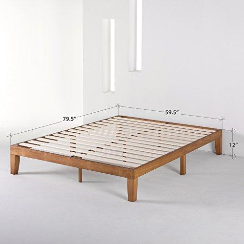 5) Mellow Naturalista Classic Solid Wood Platform Bed