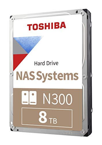 6) Toshiba N300 8TB NAS 3.5-Inch Internal Hard Drive