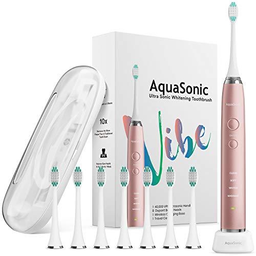 9) AquaSonic VIBE Series Ultra Whitening Electric Toothbrush