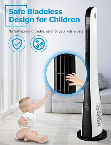 ComfyHome 43 Inch Bladeless Tower Fan