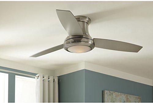 "6) Harbor Breeze Sail Stream 52"" Brushed Nickel Flush Mount Indoor Ceiling Fan"
