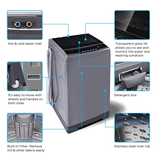 COMFEE' 1.6 Cu.ft Portable Washing Machine, 11lbs Capacity