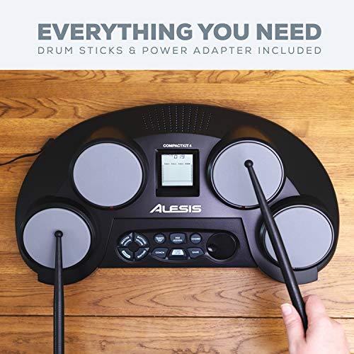 4) Alesis CompactKit 4 Tabletop Electronic Drum Kit