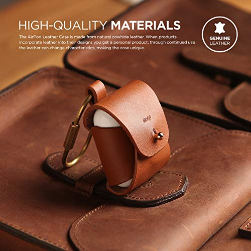 elago Leather AirPods Case Designed for Apple AirPods 1 & AirPods 2