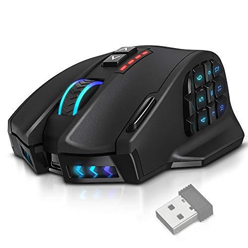 UtechSmart Venus Pro RGB Wireless MMO Gaming Mouse