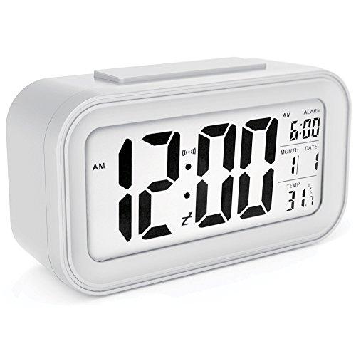 TOHOOYO Alarm Clock with Backlight Sensor, Touch LED Clock