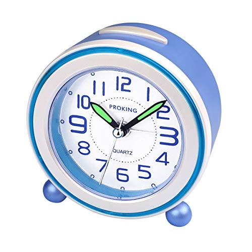 Socico Compact Non Ticking Bedside Travel Silent Alarm Clock