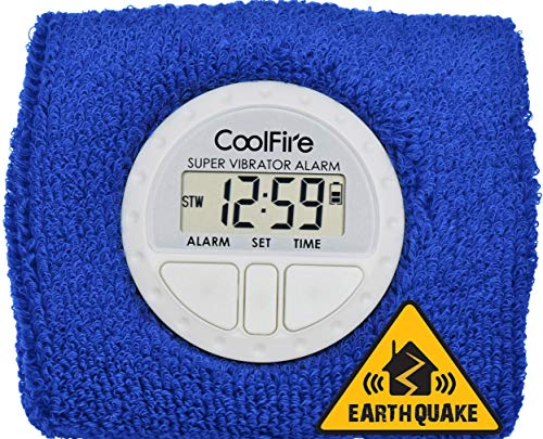 CoolFire Vibrating Alarm Clock - Silent Alarm Wristband with USB Charge 1685G