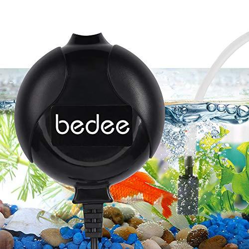 6. bedee Mini Fish Air Pump for Aquarium Ultra Silent with Air Stone and Silicone Tube