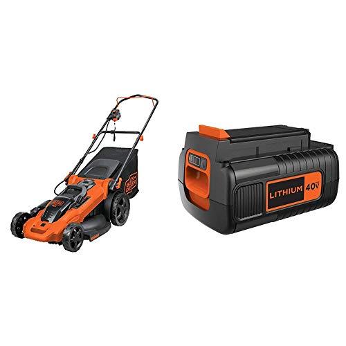 Black & Decker CM2043C 20-Inch 40-Volt Cordless Electric Lawn Mower Wiht Extra Battery
