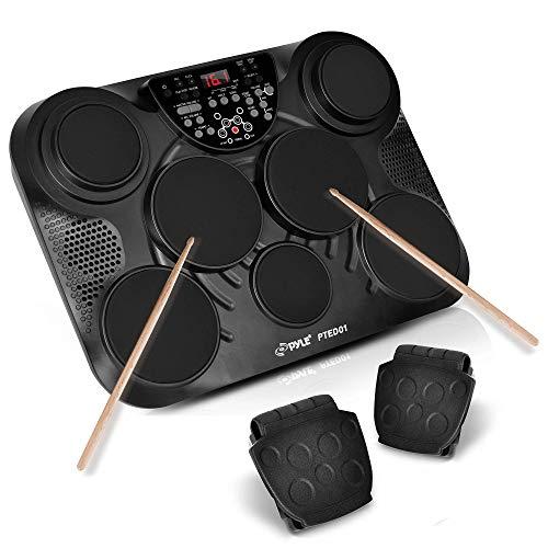6) Pyle Portable Tabletop Drum Set