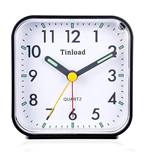 Tinload Small Battery Operated Analog Alarm Clock